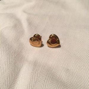 Marc Jacobs Gold Heart Earrings